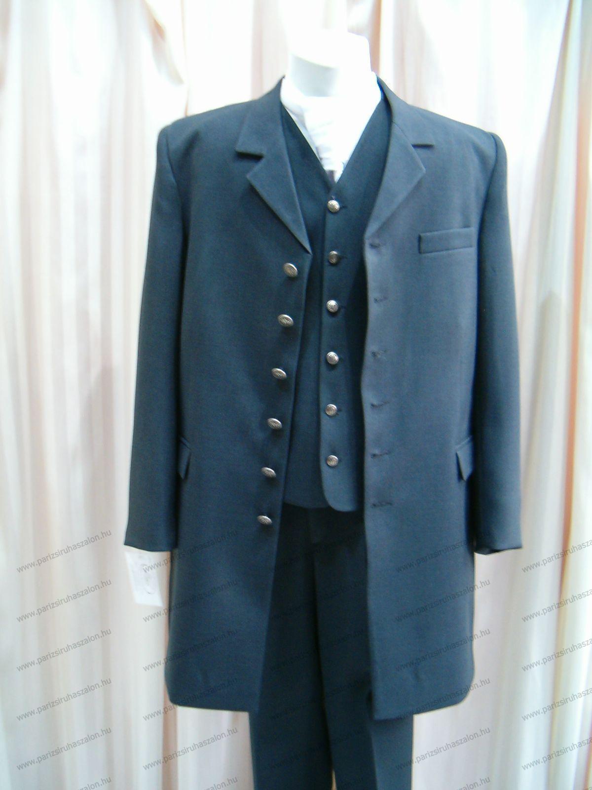50-es méretű Akciós hosszított fazonú öltöny 105  59dd70169a