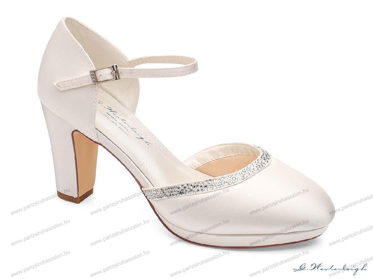be2a600f53 GABRIELLE MENYASSZONYI CIPŐ   Szatén menyasszonyi cipő. (cikkszám:  GABRIELLE MENYASSZONYI CIPŐ)