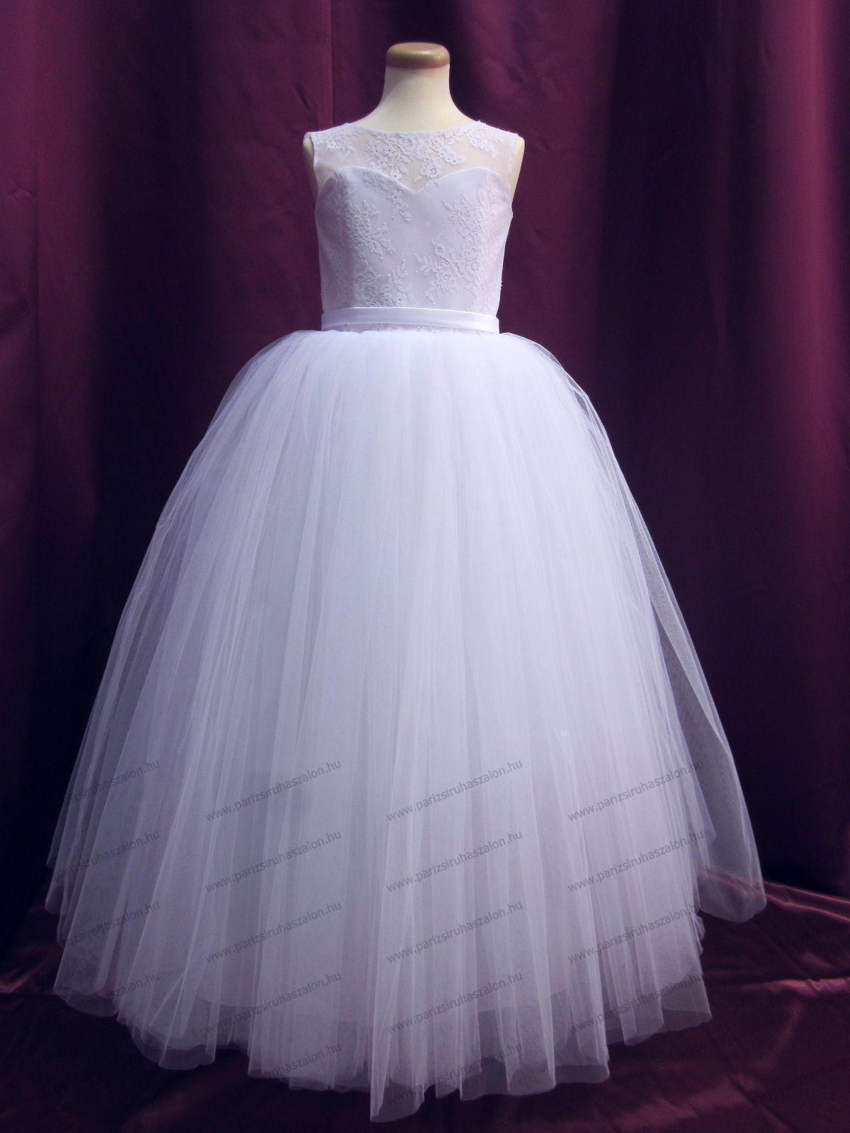 82e3ef7bff8 146-os Tüll ruha 127 | Koszorúslány tüll ruhák fehér és színes. (cikkszám:  127)