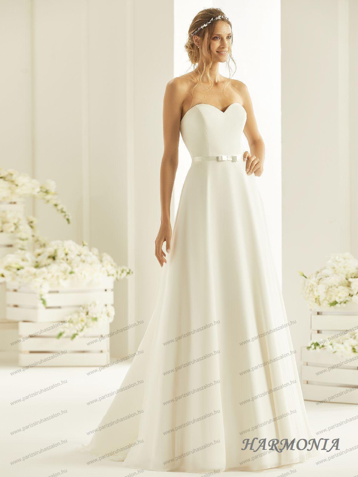 dadcc58162 HARMONIA menyasszonyi ruha 3XL, 4XL, 5XL. | BIANCO EVENTO német hosszú, és  rövid menyasszonyi ruhák. (cikkszám: HARMONIA menyasszonyi ruha)