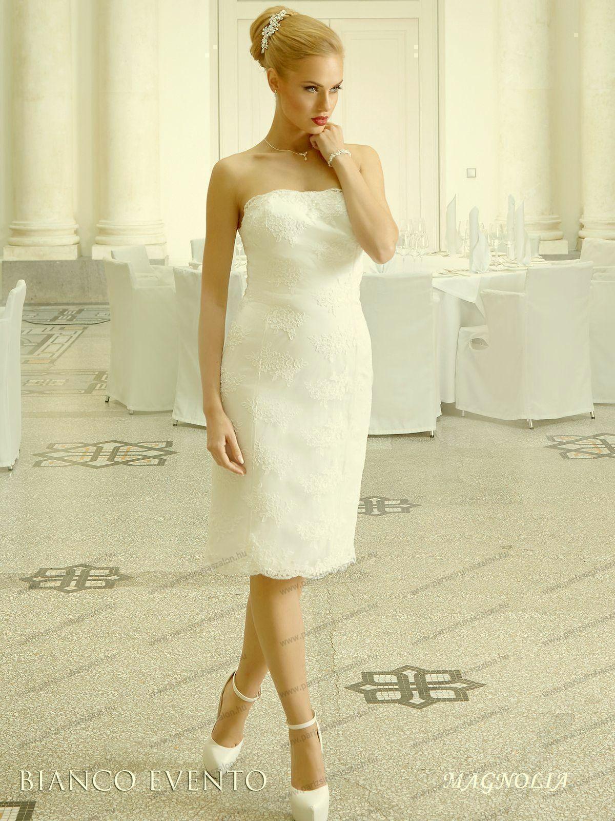 fc945d05b6 Magnolia rövid esküvői ruha   BIANCO EVENTO német hosszú, és rövid menyasszonyi  ruhák. (cikkszám: 17-es Magnolia Magnolia rövid esküvői ruha)