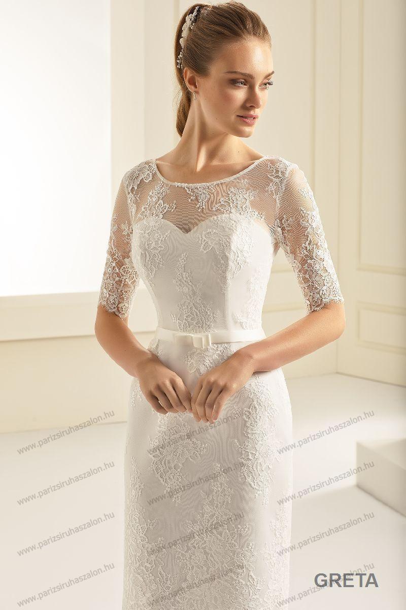 37a6e94437 Greta menyasszonyi ruha   BIANCO EVENTO német hosszú, és rövid menyasszonyi  ruhák. (cikkszám: Greta menyasszonyi ruha)