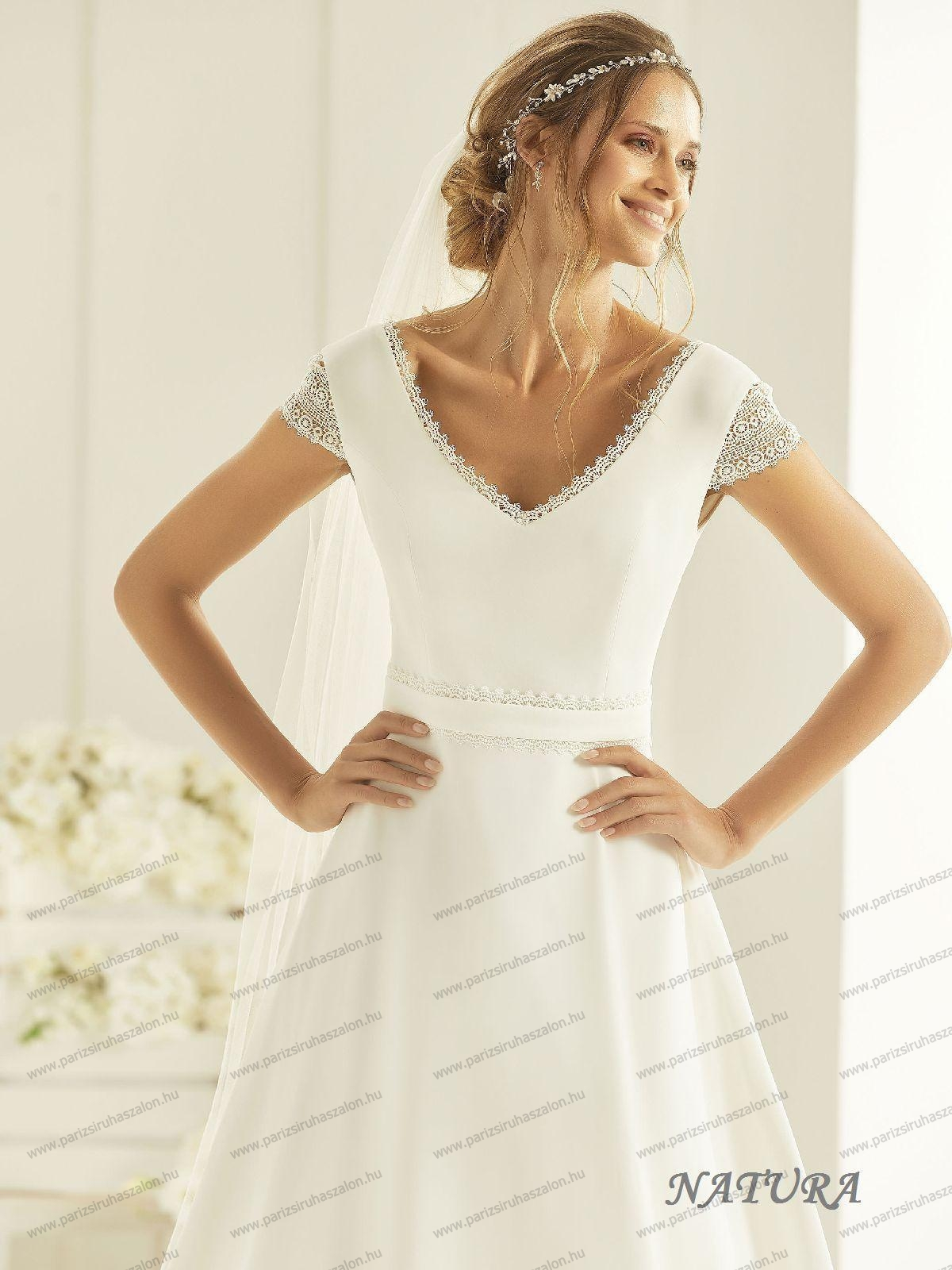 dae2bd21a0 NATURA menyasszonyi ruha   BIANCO EVENTO német hosszú, és rövid  menyasszonyi ruhák. (cikkszám: NATURA menyasszonyi ruha)