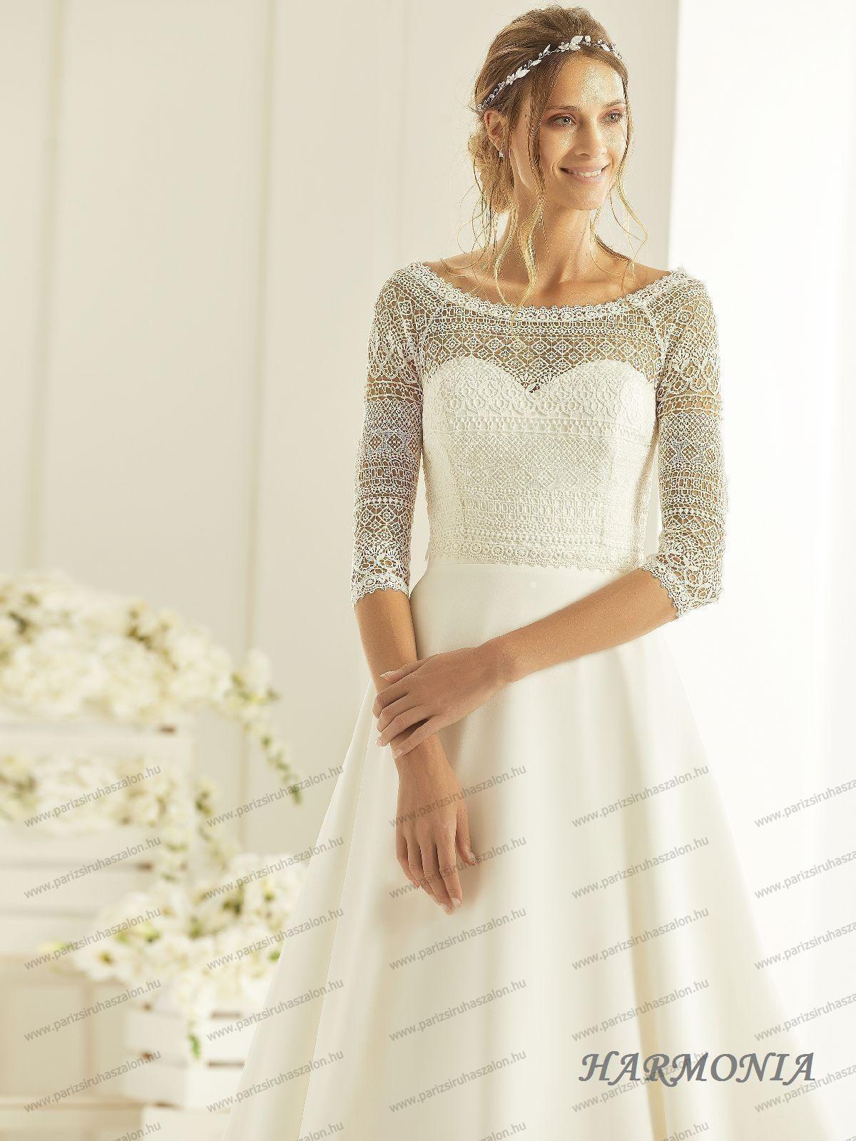 5c90838466 HARMONIA menyasszonyi ruha   BIANCO EVENTO német hosszú, és rövid  menyasszonyi ruhák. (cikkszám: HARMONIA menyasszonyi ruha)